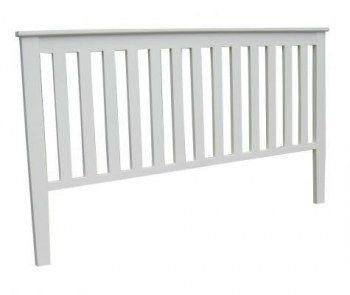 Ribbad sänggavel till 180 säng b195 cm höjd 130 cm (rek.pris 2500 kr) / Sängbord / Sänggavlar