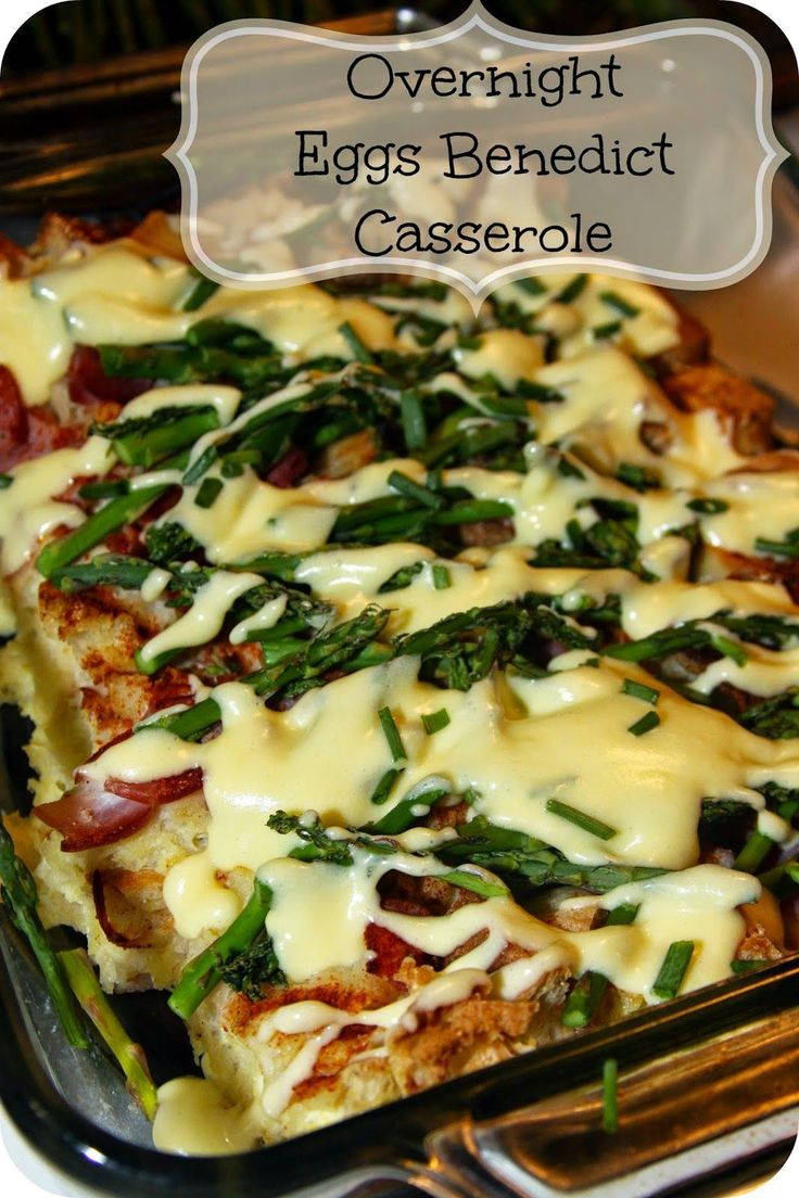 For the Love of Food: Overnight Eggs Benedict Casserole with Creamy Hollandaise