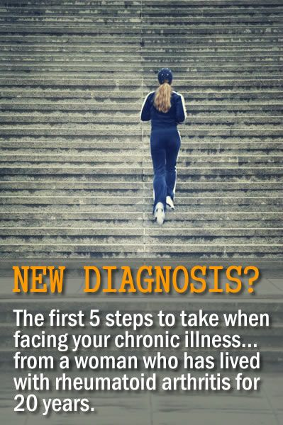 DO YOU HAVE A NEW DIAGNOSIS OF A CHRONIC ILLNESS? It's easy to get online and read as much as you can, start figuring out the worst case scenario and  what you can do to stop it from progressing. But how much information is TOO MUCH? Here @Lisa Phillips-Barton Phillips-Barton Copen shares her best advice, the first 5 steps to take, when you are diagnosed with a chronic illness. (She has had debilitating rheumatoid arthritis since 1993.)