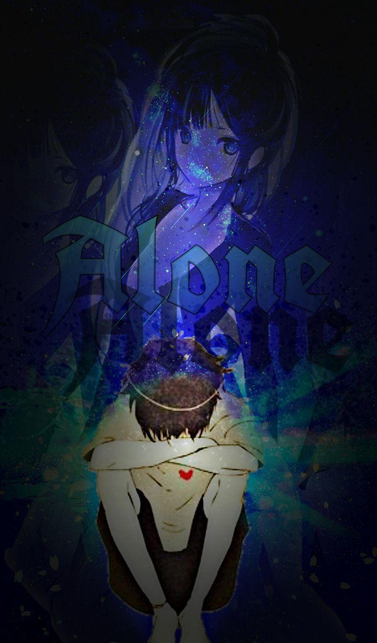 Alone... Singur dar cu gândul     la ea...