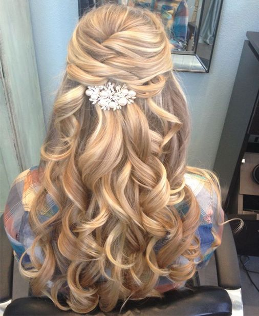 Prom hairstyles for long curly hair 2017 : Curly homecoming hair long bridal and prom