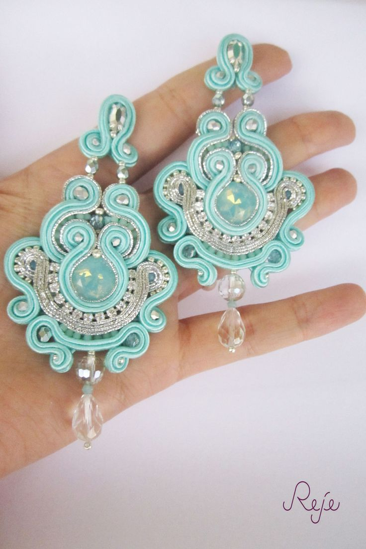 Reje creations soutache chandelier earrings Tiffany https://www.facebook.com/rejegioielliinsoutache