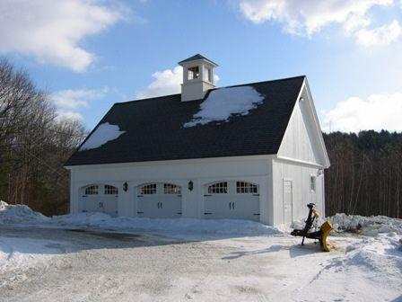3 car barn garage!! Barn by BarnMakers by Yankee Barn Homes, via Flickr
