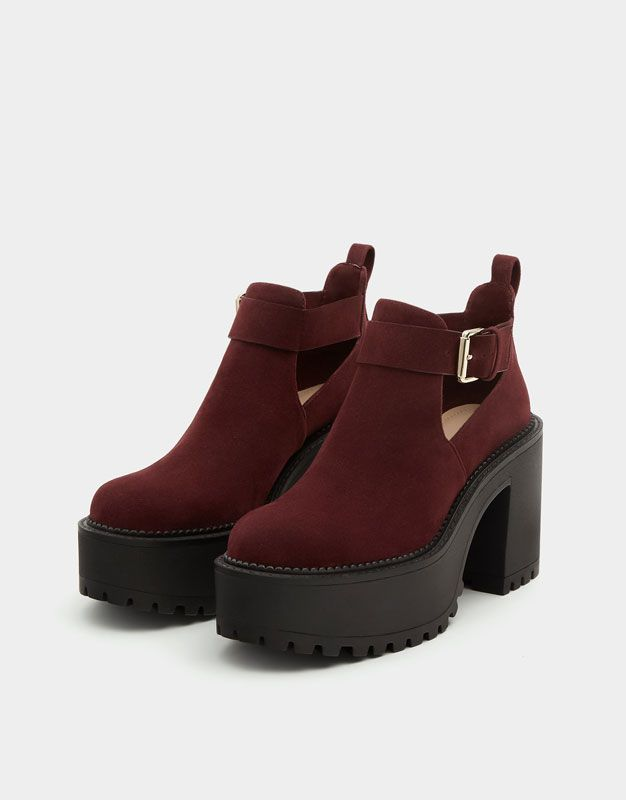 89d985c2c0664 Botín plataforma track - Ver todo - Zapatos - Mujer - PULL BEAR España