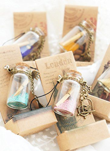 Amazon.com: LEFV™ 2ml Small Bottles Transparent Mini Glass Jars with Cork Stoppers Top - Message Weddings Wish Jewelry Pendant Charms Kit Party Favors - Pack of 12: Kitchen & Dining