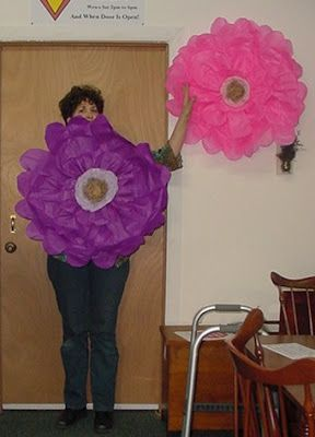 """DIY - Instructions for making this large 32"""" hanging tissue paper flower"""