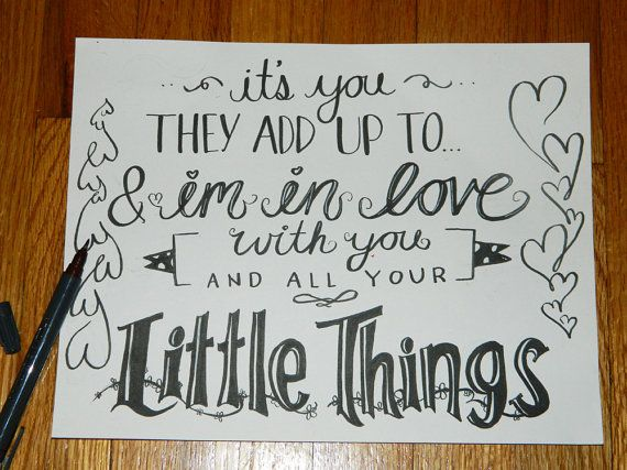 """Little Things"" - One Direction. <3"