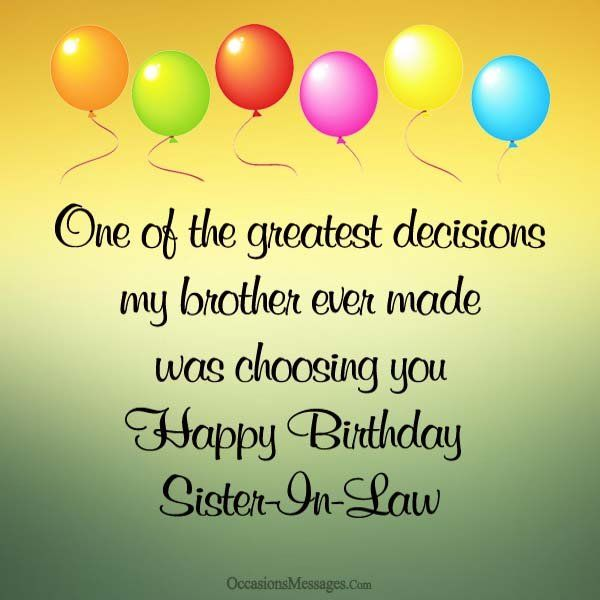 Happy Birthday Sister In Law Birthday Messages For Sister Sister In Law Quotes Birthday Wishes For Sister