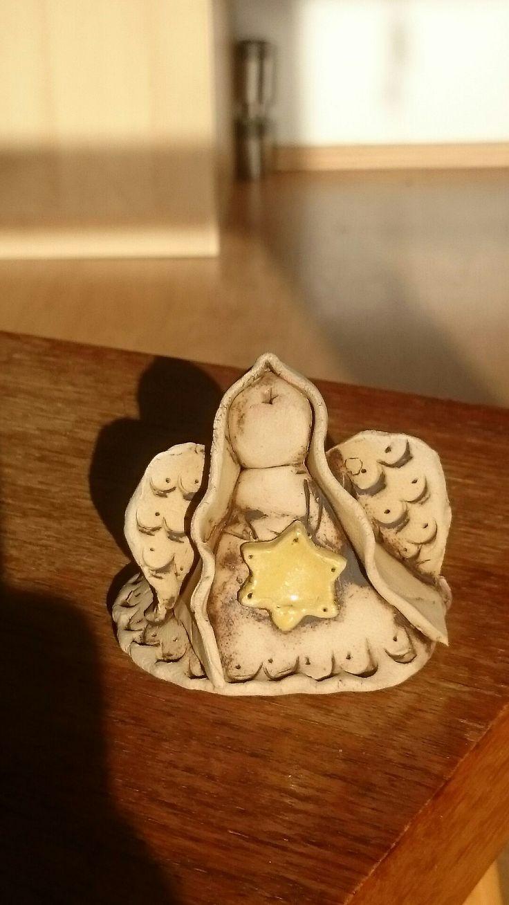 Keramický andílek,  moje práce