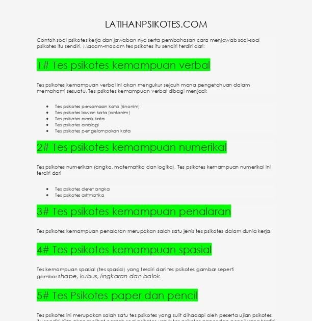 Contoh Soal Psikotes Kerja Dan Jawaban En5kgyv3zxno Psikotest Kunci Jawaban Kumpulan Materi Pelajaran Dan Contoh Soal 5 Contoh So Pengetahuan Pengukur Blog