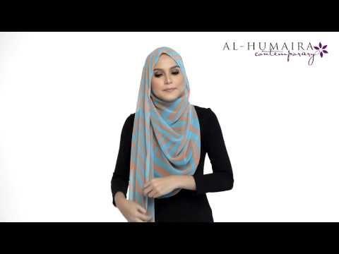 LANAA shawl styling tutorial by Al-Humaira Contemporary - YouTube