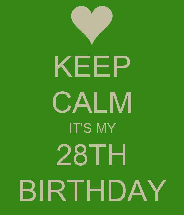 KEEP CALM IT'S MY 28TH BIRTHDAY .... And I am loving it .. I look 20 and have a better body than I ever have . Sorry but I've never been hotter and I'm embracing every second of it. Can't wait to be able to tell people I'm 28 ( all my ladies look amazing ... We will gladly accept people scrutinizing our id's ) .... God I love genetics