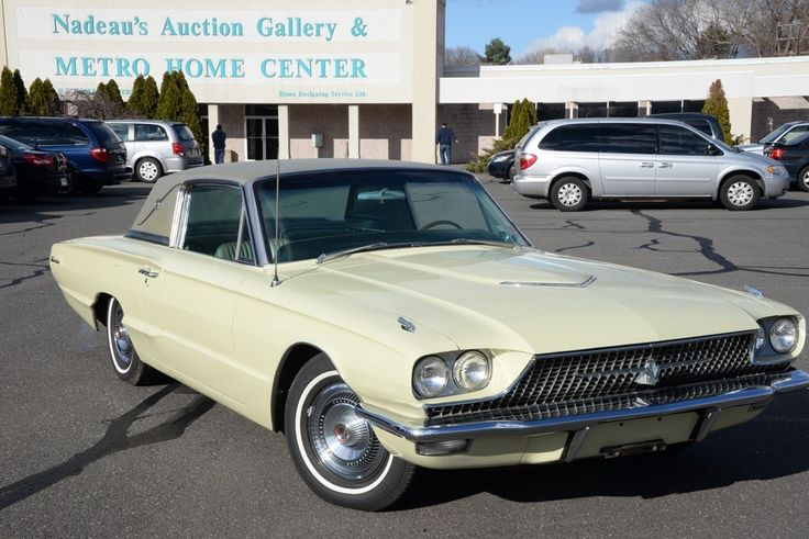 1966 Thunderbird Survivor car, one owner, 51,659 miles, original paint, always garaged, original born with drive train, all numbers match, honey dew yellow, Town Landau, 8 cyl ~ Realized Price $15,600.00  #nadeausauction