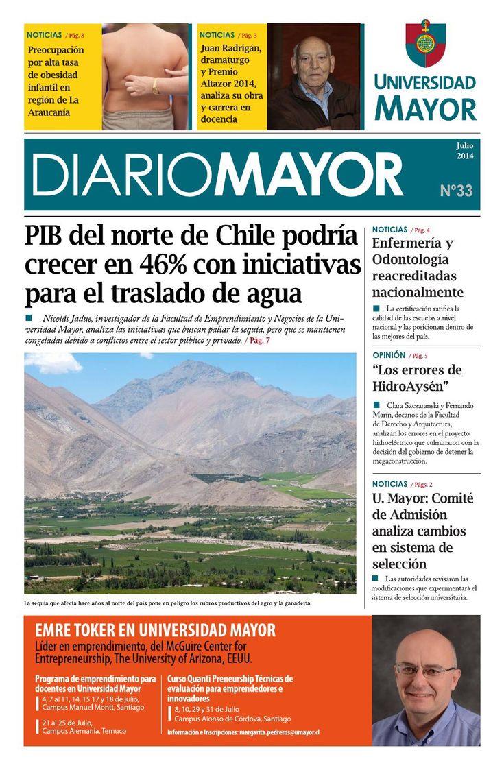 Revisa Diario Mayor N° 33 - Edición de Julio de 2014 #diariomayor #umayor #noticias