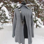 Sweter - alpaka z jedwabiem