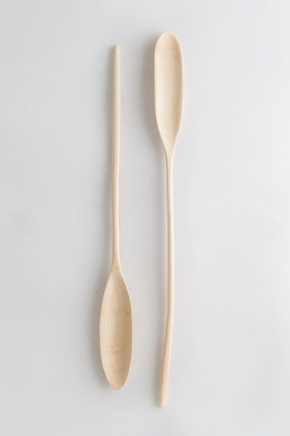 Hand made wood spoon // Hand carved spoon // tea spoon // Coffee spoon // Kitchen Spoon // Wood cutlery // Soup Spoon // elegant spoon   These spoons are all hand carved by myself personally out of beautiful Alder wood that was saved from ending up in the landfill and salvaged from an old house. The wood is milky white and has a subtle and beautiful grain structure. Its strong and durable despite its size. It is perfect to ...