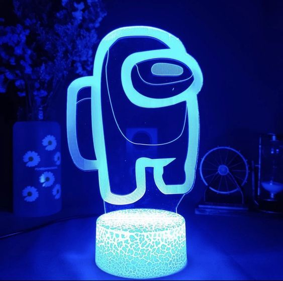 Among Us LED Adjustable Color Lamp in 2021   Blue neon ...