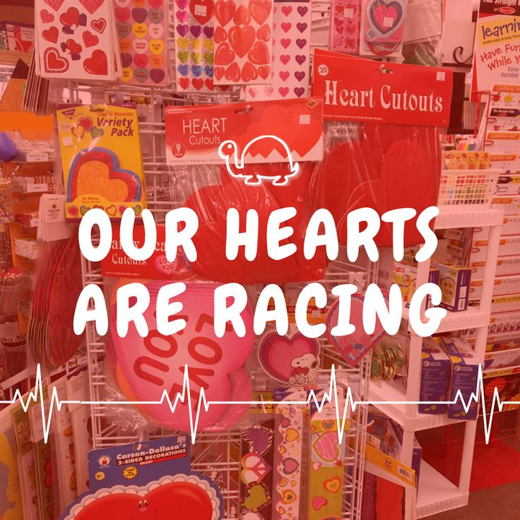 Our hearts are racing with Valentineu0027s Day