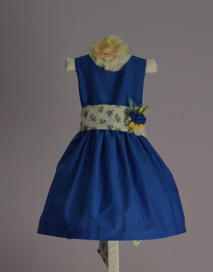 vestidos  de popelin para arras y fiestaVestido estampado flores www.petitsrois.com
