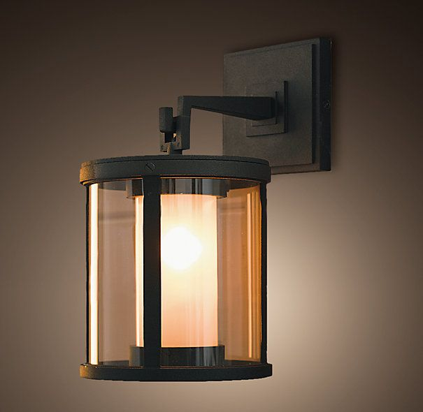 QUENTIN PENDANT SCONCE $179 Quentin's flattering glow filters through double shades of frosted and clear glass. Lights a big entrance, court...