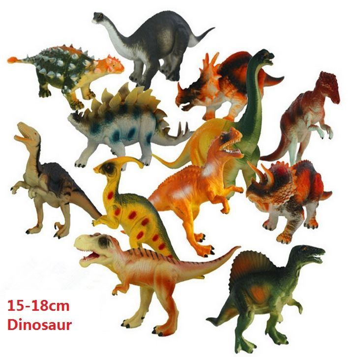 Gratis Kapal 12 pcs/lot 15-18 cm Model Aksi & Angka T-REX DINOSAURUS Jurassic Dinosaurus Plastik Bermain Mainan untuk anak-anak tanpa Kotak