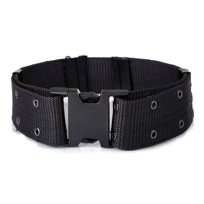 Outdoor S Tactical Nylon Fiber Belt w/ Buckle - Black