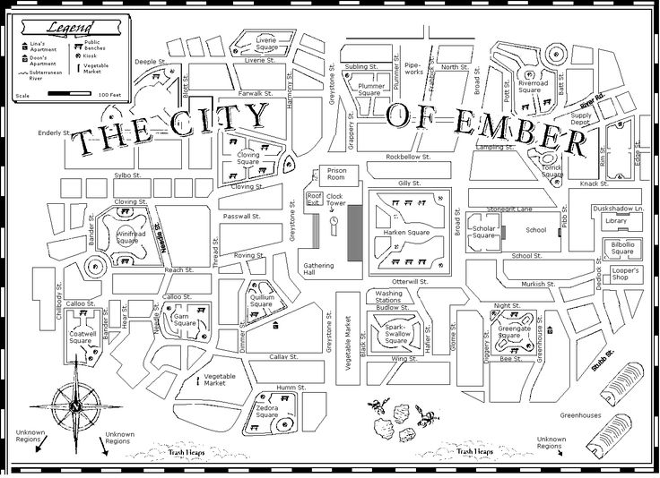 City of Ember: printable map and book club questions