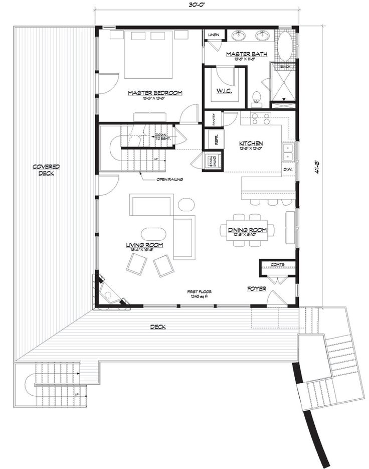 House Plan 5738 00002 Lake Front Plan 1 793 Square Feet