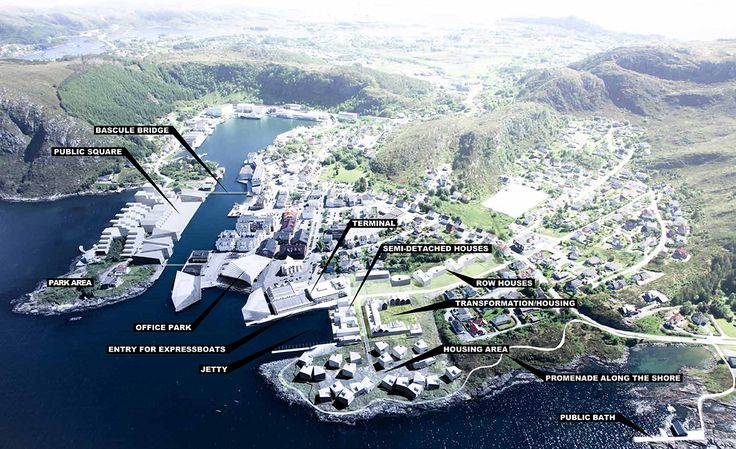 FOSNAVÅG, NORWAY A new centre unfolds on a peninsula
