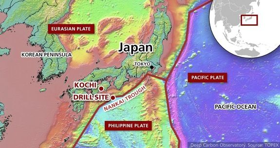 To search for the temperature limit for Earth-style life, scientists aboard the Japanese drilling vessel Chikyu will head to the Nankai Trough.