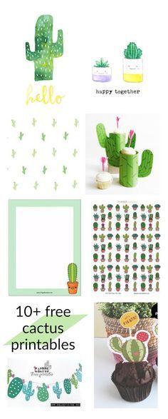 FREE printable #cactus printables - round-up