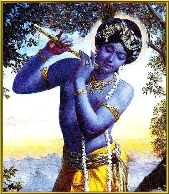 Krishna's flute sounds so powerful that they embodied the energy of the cosmos.