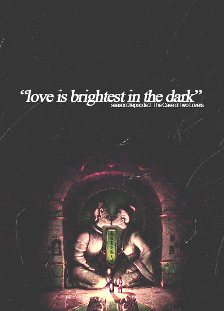 love is brightest in the dark (Two lover's forbidden from one another, a war divides their people, and a mountain divides them apart, build a path to be together...and I forget this part, but...SECRET TUNNEL, through the mountain, secret, secret, secret tunnel! (and die).)