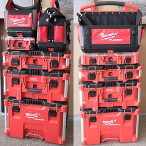 Milwaukee Packout Tool Storage Stack Examples