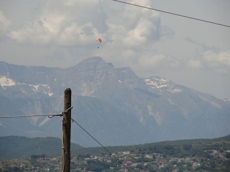 Paragliding in Konitsa, Epirus, Greece.
