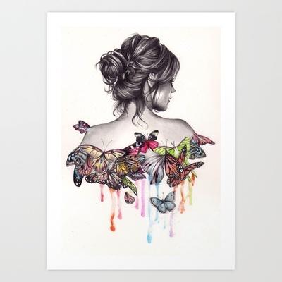 Butterfly Effect Art Print by KatePowellArt - $17.00