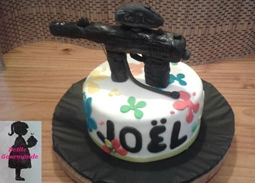 Tarta Paintball para Joël