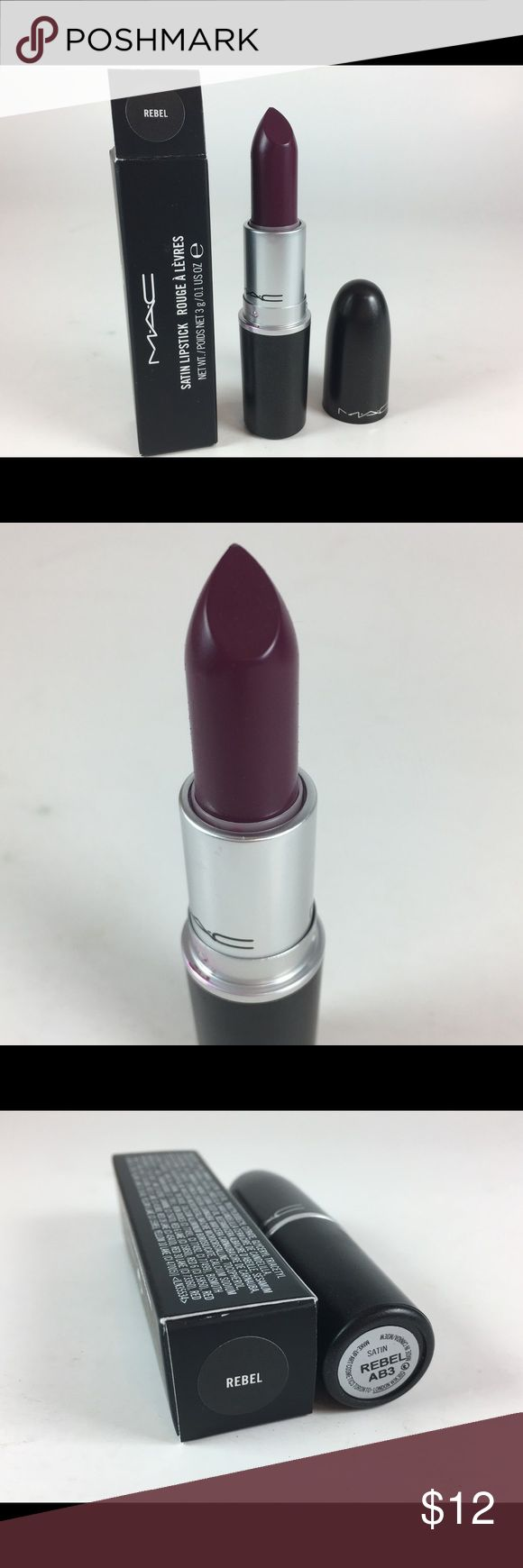Mac Cosmetics BNIB Rebel lipstick Batch code: AB3 Mac Cosmetics BNIB Rebel lipstick  - Never used or tested. Satin finish. Please see pictures as this is the item you will receive.  Batch code: AB3 100% Authentic  Thank you! MAC Cosmetics Makeup Lipstick