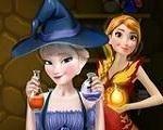 Em Elsa e Anna Porção Mágica, as irmãs Frozen: Elsa e Anna descobriram um livro de feitiços e porções. E elas irão usar o livro para criar os mais fantásticos feitiços do Reino de Arendelle. Divirta-se com Elsa e Anna!