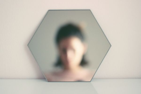 mirror, polygon, selfie