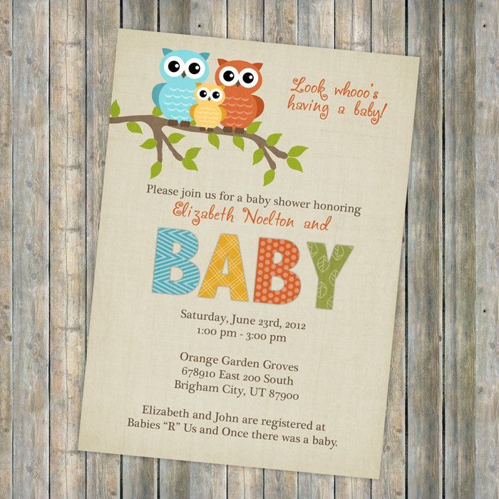 Vintage Owl Baby Shower Invitations: 35 Best Oliver Images On Pinterest