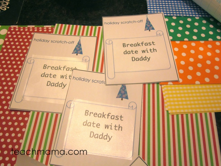 homemade scratch-off tickets -- with printable templates