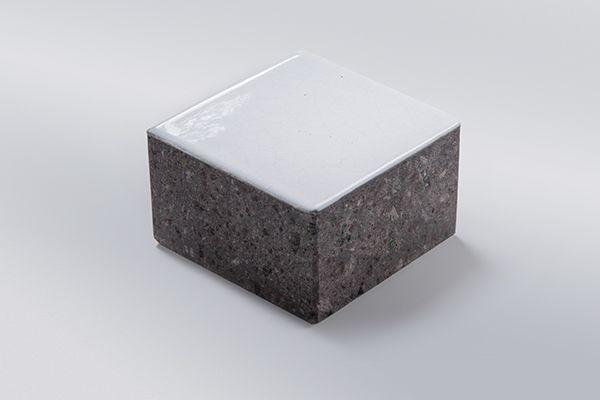 lava stone colors: pure white