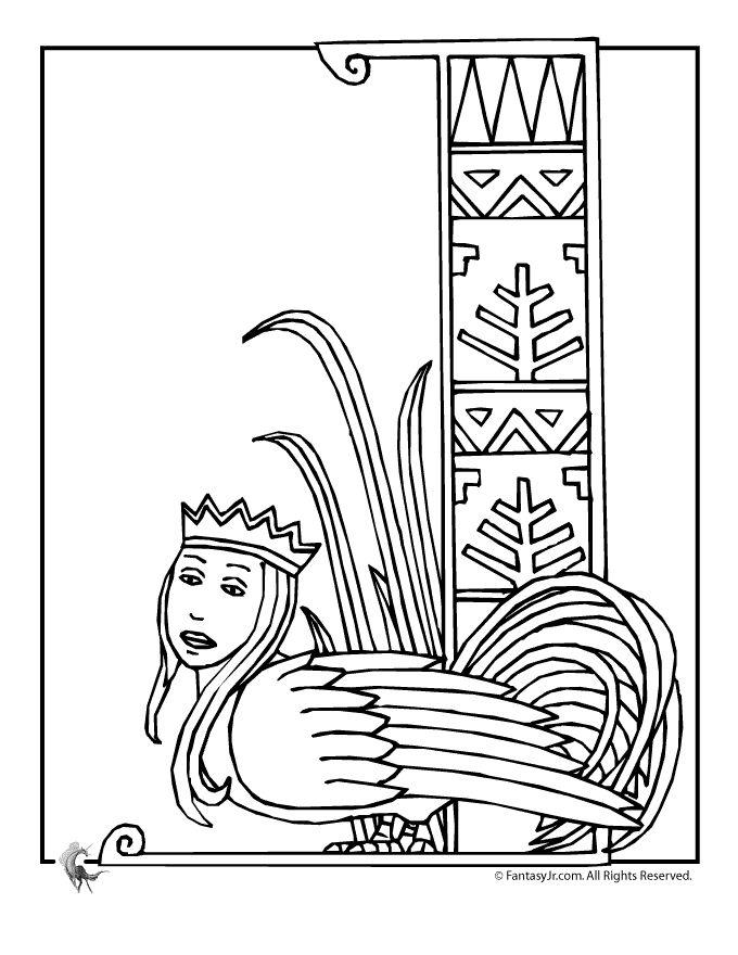 Starověký Egypt omalovánky egyptská sfinga Omalovánka - Fantasy Jr.