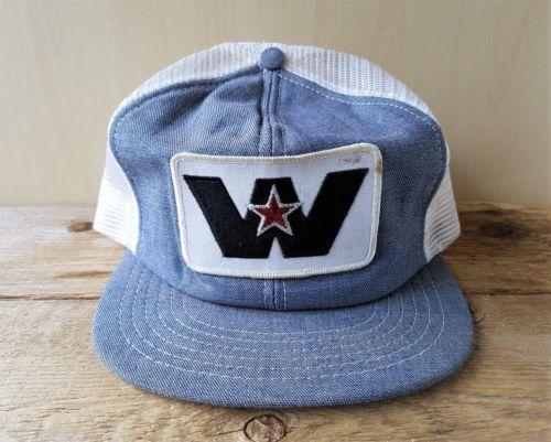 Vintage 1980s WESTERN STAR TRUCKS Denim   Mesh Trucker Hat Snapback Canada  Cap 5db3f40be57e