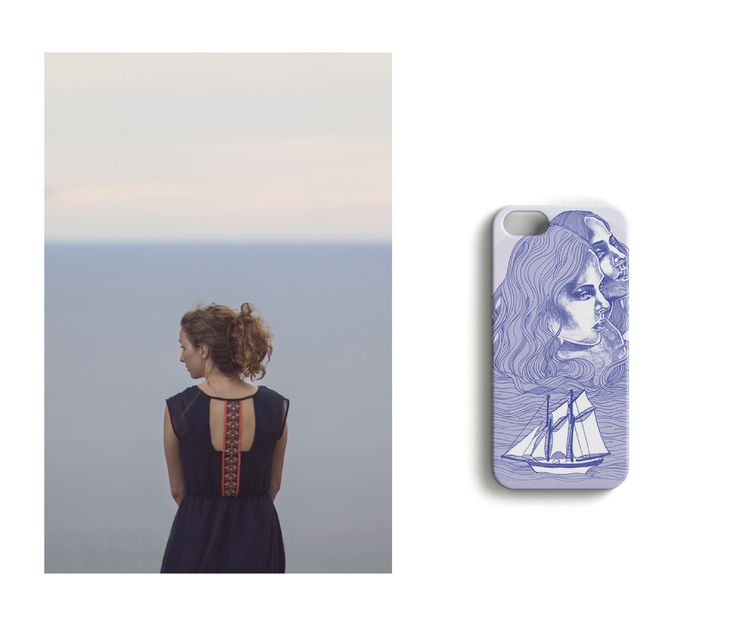 Hello from the other side //Mermaids of the Baltic Sea iPhone case designed by Anna Salmi.