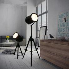 US $208.04 Vintage Loft Black Tripod Floor Lamp For Living Room Retro Industrial Free Lifting Standing Lamp Bedside Floor Light Fixtures. Aliexpress product