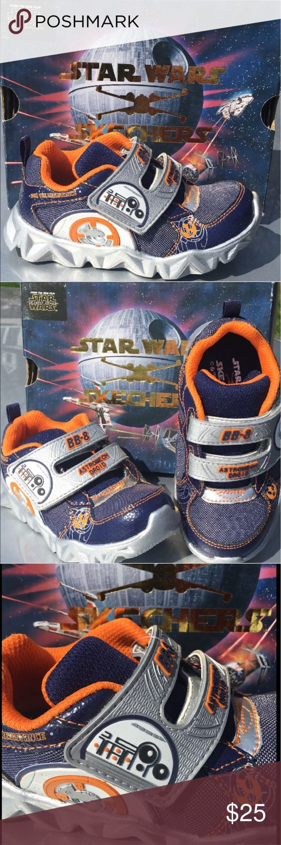 New Star Wars BB8 from Skechers New Star Wars BB8 from Skechers. This is a last pair sale in size 8 they run a little bit small please keep that in mind when purchasing. These are just so cute for your little toddler boy. Skechers Shoes Sneakers