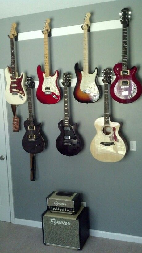 Jojos guitar wall!                                                                                                                                                                                 More