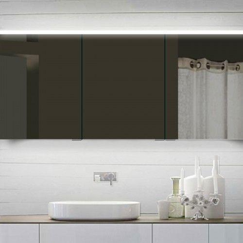 Grote brede spiegelkast van 160 cm breed, 70 cm hoog en 12 cm diep